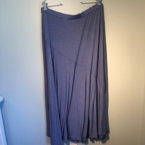 Chico's Royal Blue & White Stripe Skirt Size 2